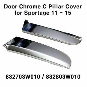 New OEM Rear Door Garnish Chrome C Pillar Cover LH RH for KIA Sportage 2011 2015