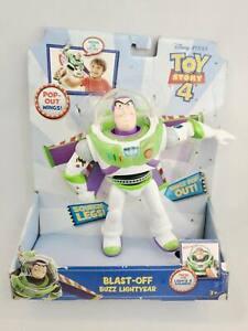 Toy Story 4 Blast Off Buzz Lightyear Action Figure w/ Pop Out Wings 2018 Mattel