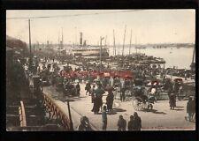 More details for china shanghai bund of france town animated scene kanamaru postcard 1902 - c904