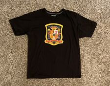 Spain Plus Ultra Adidas Mens Graphic T-Shirt XL Black RFCF Shield Logo Soccer