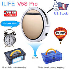 ILIFE V5S Pro Smart Robotic Vacuum Cleaner Dry & Wet Cleaning Sweeping Machine