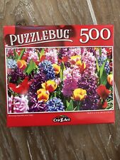 🧩 NEW Puzzle- 500 Piece Colorful Flowers Sealed Cra-Z-Art Puzzlebug Tulips