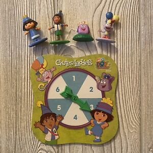 Dora The Explorer Chutes and Ladders Replacement Pieces Spinner 4 Figures