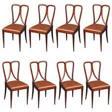 Set Of 8 Dining Chairs By Guglielmo Ulrich