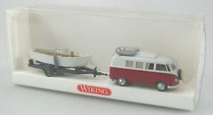 Wiking 1:87 H0, Nr.: 797 35 34 VW T1 Camping Bus mit Ruderboot OVP