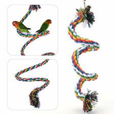 Vogel Seil Spielzeug mit Glocke Baumwolle Papagei Spiral Schaukel Kletterkäfig