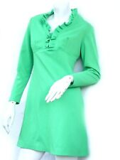 Apple Green Mini Dress Montgomery Ward Ruffle Collar