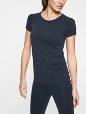 Athleta Hydrogen Relaxed Mesh Tee,Navy, Size S, NWT