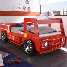 Feuerwehrbett Spark Kinderbett Bett Spielbett rot lackiert inkl. Beleuchtung