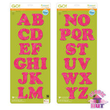 Accuquilt GO! Fabric Cutter Die Carefree Alphabet 2 Die Set Applique 55092