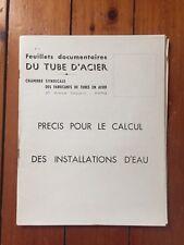 Feuillets documentaires du tube d'acier n° 6 Précis Pour Le Calcul Installations