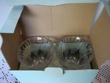 Partylite Glacier Votive Crystal Candle Holders Set of 2 Pair New in Box P7657