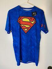 Men's UNDER ARMOUR Alter Ego Superman Compression Shirt Blue X-Large NWT