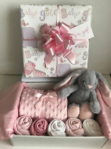 Baby Girl Gift Basket Hamper Maternity Baby Shower Gift New Born Baby Pink