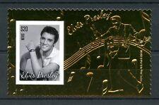 Nevis 2013 MNH Elvis Presley 1v S/S Gold Stamp King Rock Roll Music Stamps