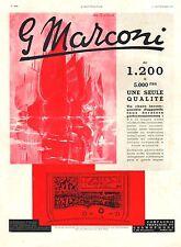 Publicité MARCONI TSF Poste Radio  photo vintage print ad  1936 - 5h