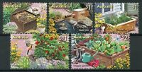 Australia 2019 MNH In the Garden 5v Set Plants Flowers Butterflies Birds Stamps