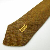 Sauers 100% Wool Mens Necktie Brown Grenadine Tie Q3-23