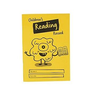 A5 Reading Record Book 40 Page, Ruled, Yellow Fast Free Shipping