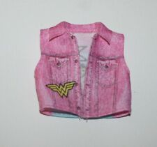 Barbie Doll Wonder Woman Pink Denim Sleeveless Jacket