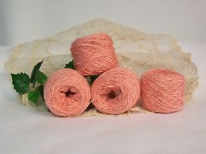 Coral Yarn, Acrylic Cotton Blend, Lace Weight, Super Soft B34