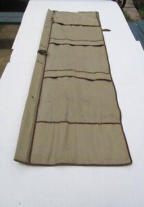Vintage ORVIS Canvas Fishing Rod Bag Case Carrier Leather Straps #1