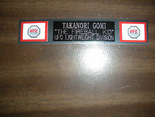 TAKANORI GOMI (UFC) NAMEPLATE FOR SIGNED TRUNKS DISPLAY/PHOTO/PLAQUE