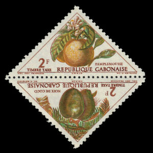 "GABON J39a - Tropical Fruit ""Postage Due"" (pf83857)"