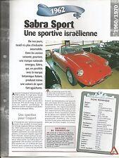 FICHE DESCRIPTIVE - TECHNIQUE - LA SABRA SPORT DE 1962