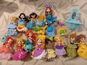 Disney princess little kingdom snap ins bundle x 12 dolls + accessories