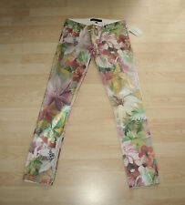 BNWT Juicy Couture Sexy Unusual Jeans Metallic Floral Pattern Sz 26  UK 6-8 $200