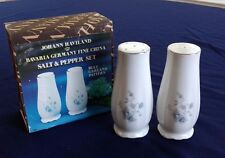 Johann Haviland Bavaria Germany Blue Garland Pattern China Salt & Pepper Shakers
