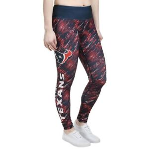 NFL Womens Houston Texans Navy Static Rain Leggings Yoga Pants Sz Small NEW NWT