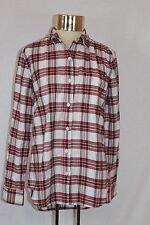 Women's Lord Taylor 424 FIFTH Button Down Plaid Long Sleeved Shirt (M)
