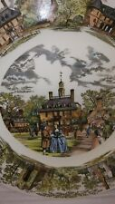 Wedgwood Colonial Williamsburg Virginia Governors Mansion Plate