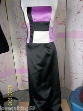 Jessica McClintock, 2 Piece Black w/Cream and Lilac Special Occasion Dress