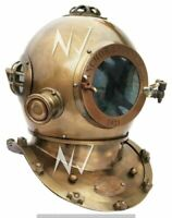 Brass Boston Diving Helmet Divers Scuba Marine Deep Sea Nautical Antique Item
