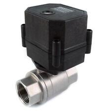 34 Npt Motorized Ball Valve 9 12v To 24v Ac Dc 3 Wire Stainless Steel Epdm