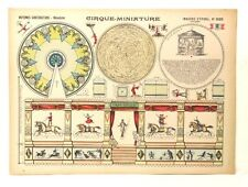 Pellerin Imagerie D'Epinal 1025 Cirque Miniature Moyennes Constructions Vintage
