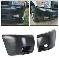 New Set of 2 Front Bumper End Fog Light Holes For 07-13 Chevy Silverado 1500