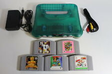 NINTENDO 64 Clear Blue Console Cracks 5 Games Mario Party N64 Import PLAY US JP