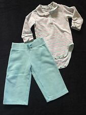 Sonoma Girls Size 12 Months Sweat Pants Long Sleeve Body Suit LOT VGUC