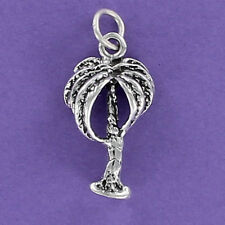 Palm Tree Charm Sterling Silver for Bracelet Beach Hawaii Vacation Island Cruise
