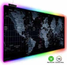 More details for large keyboard pad anti-slip rgb led gaming mouse mat 80*30cm for desk pc laptop