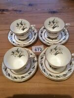 Set Of 4 Royal Worcester Bernina Small Cups & Saucers + 2 Lots As In Pictures