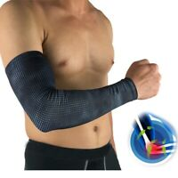 Men's Arm Sleeve Arthritis Elbow Support Brace Sports UV Sun Protection Sleeves