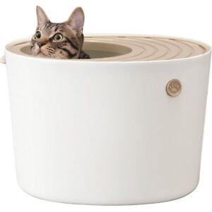 Top Cat toilet Litter Box Iris Oyama Petit White PUNT-430 Shipping From Japan