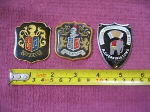 3 Guerrini Metal Accordion Badges - Crest Special Production for East Elephant