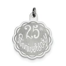 Sterling Silver 25th Anniversary Disc Charm - SKU #133565
