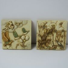 """2 Harmony Kingdom Picturesque tiles-Sky master and Cliff Hangers-4""""x4"""""""